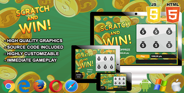 Win with Scratch n Spin
